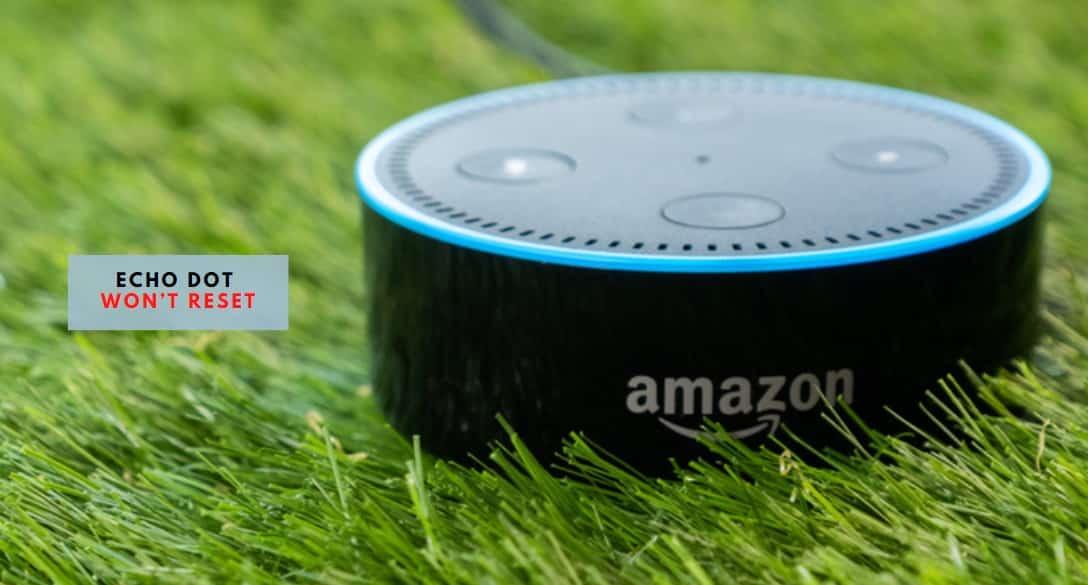 Echo Dot Won't Reset