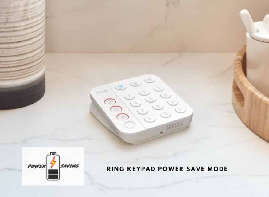 Ring Keypad Power Save Mode