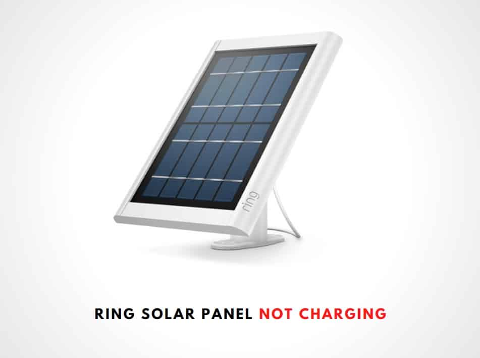 Ring Solar Panel Not Charging