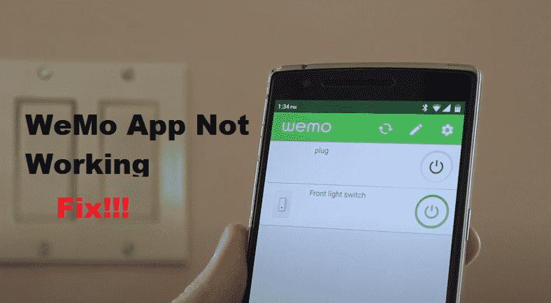 Wemo App Not Working