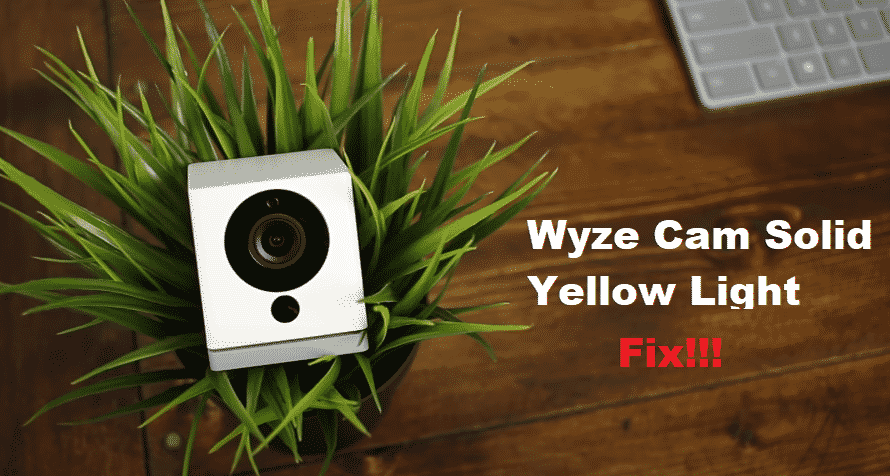 Wyze Cam Solid Yellow Light