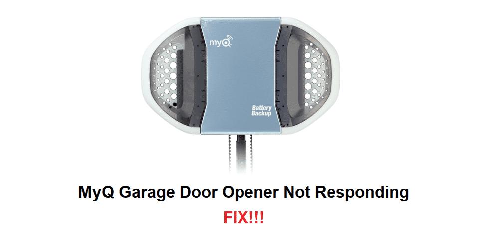 myq garage door opener not responding