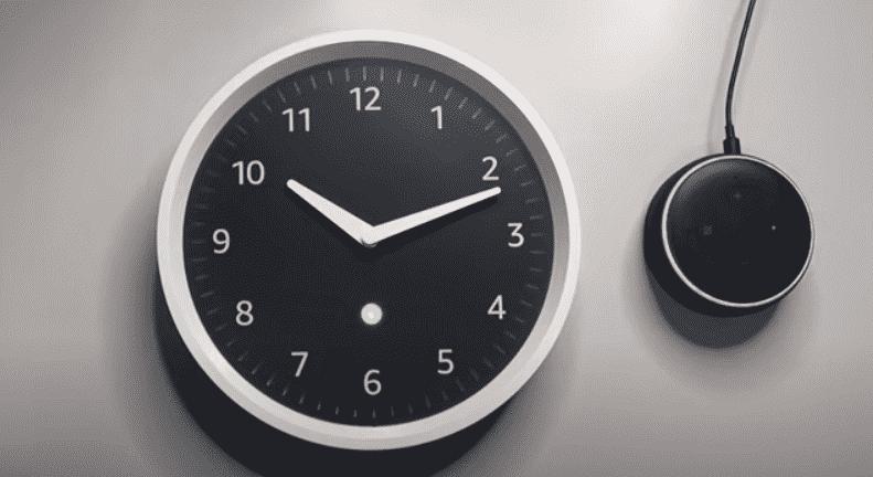 echo wall clock red light