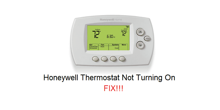 honeywell thermostat not turning on